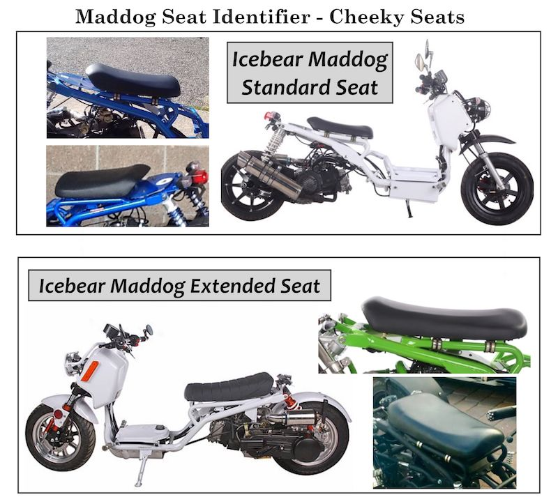 Ice Bear Maddog 50 150 Bride Padded Seat Cover Customize it!