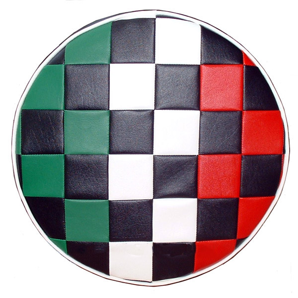Italian Checks 10 in. wheel Scooter Spare Tire Cover Vespa Bajaj