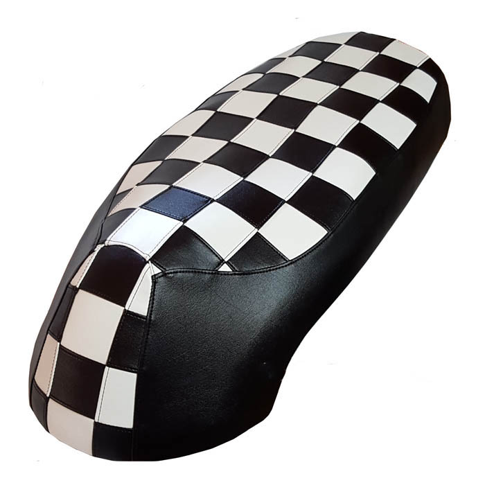 Black and White Checkers Kymco Like 50-200 scooter seat cover