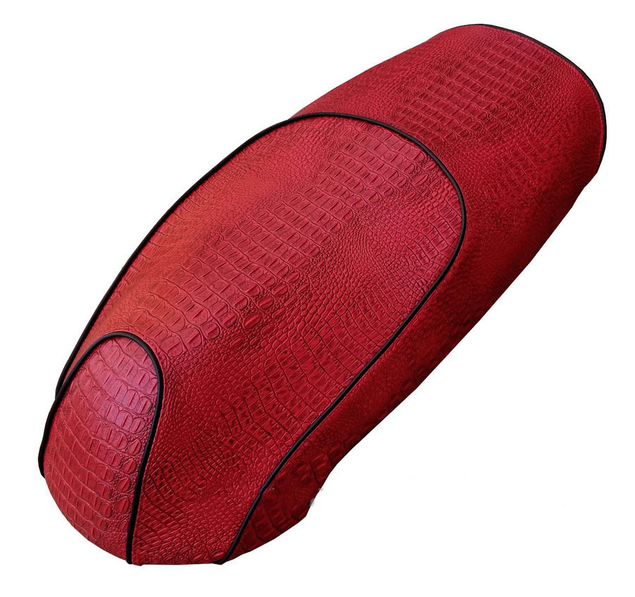 Kymco Like 50 125 200 Red Faux Gator Crocodile seat cover