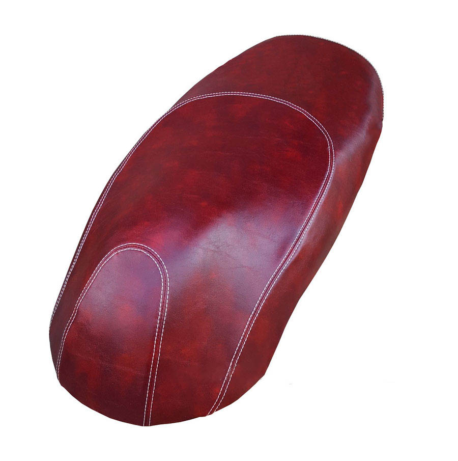 Kymco Like 125 200 Oxblood Red with French Seams Seat Cover