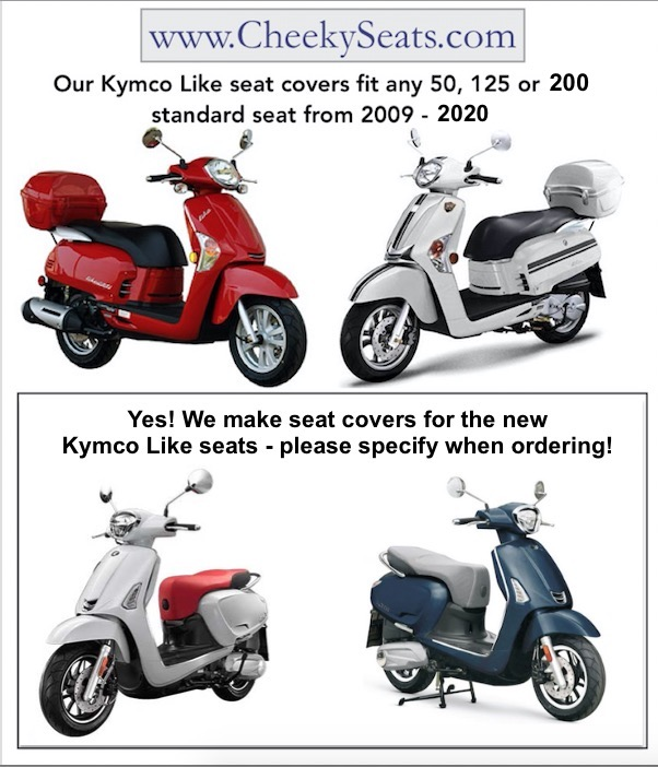 kymco like 50 200i seat covers cheeky seats scooter. Black Bedroom Furniture Sets. Home Design Ideas