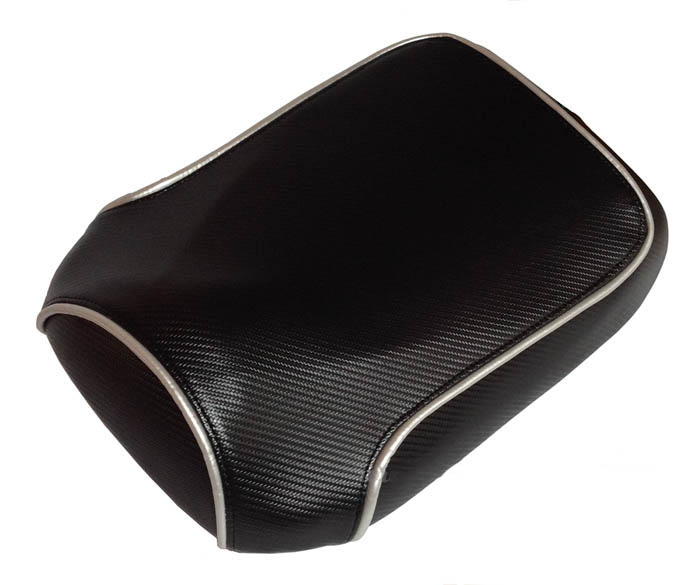 Maddog 50 /150 Chuckus Seat Cover Black Carbon Fiber with Piping