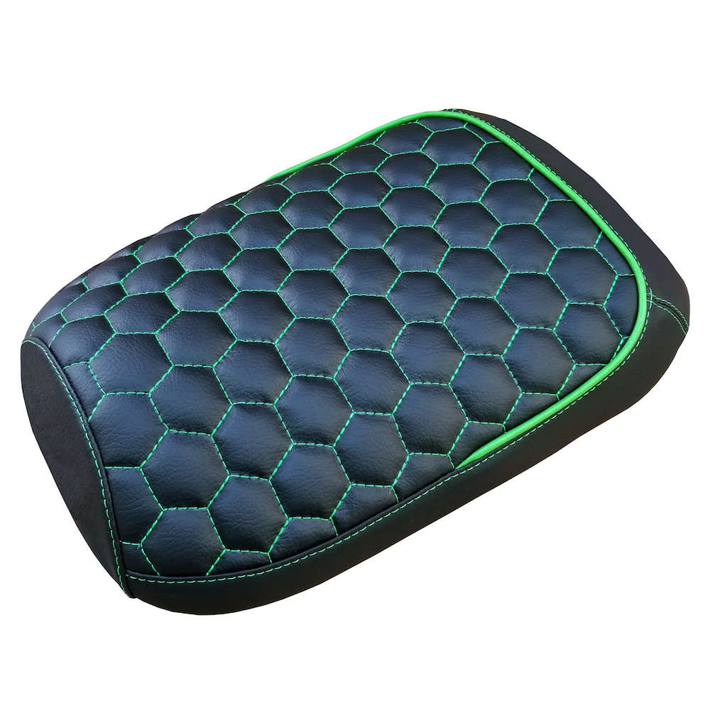 Hexagon Maddog Hex Stitch with Piping Seat Cover Honeycomb GenIV