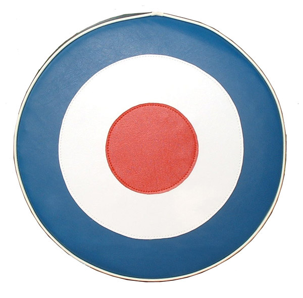 British Mod Target RAF Scooter Spare Tire Covers 10 inch Wheel