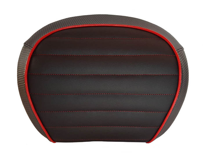 Vespa GT Topcase Backrest Cover Matte Black and Charcoal, Padded
