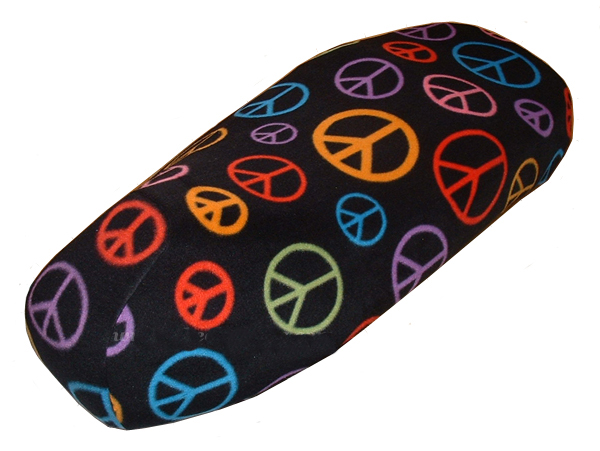 Vespa GTS 250 300 Scooter Seat Cover FLEECE Peace Signs