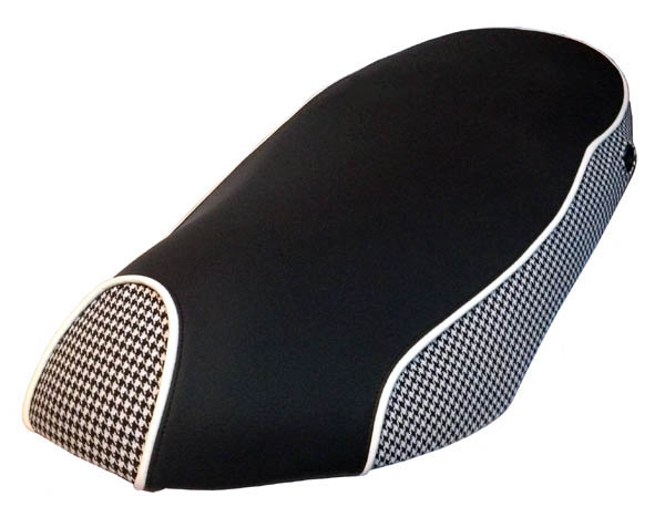 Piaggio Fly Houndstooth & Black Scooter Seat Cover 2005 - 2018