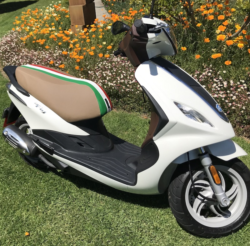 Piaggio Fly Italian Racing Stripe Scooter Seat Cover 2005 - 2018