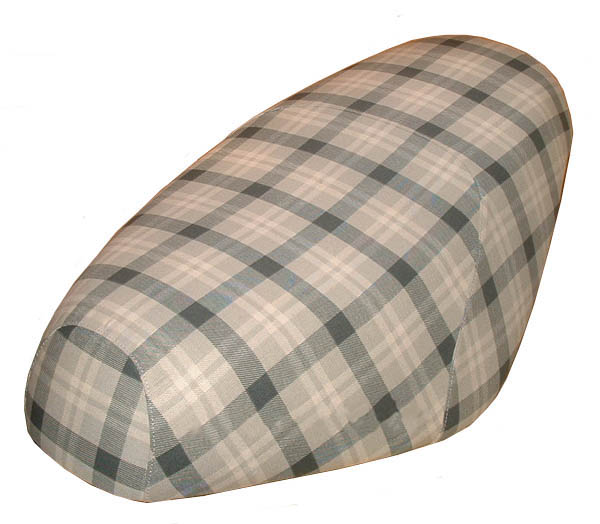 Plaid Tan Genuine Buddy Scooter Seat Cover Water Resistant