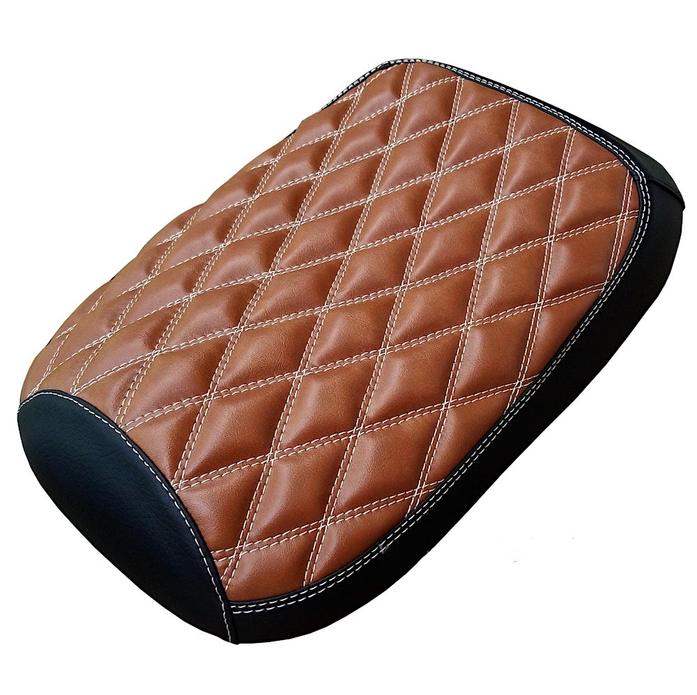 Honda Ruckus Seat Cover Caramel Double Diamond Black & Tan