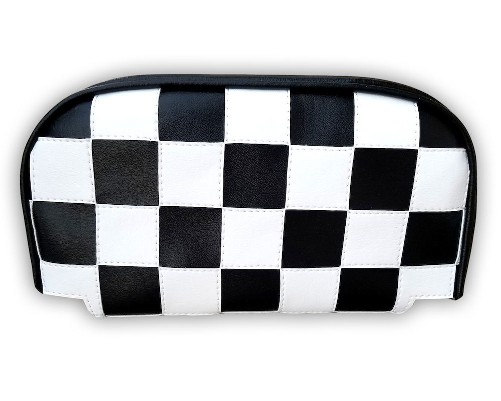 Checkers Ska Vespa Scooter Backrest Pad Cover Lambretta