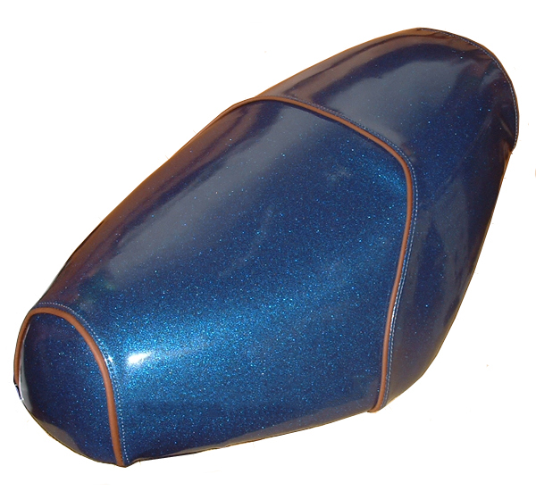 Blue Glitter Sparkle Premium Buddy Seat Cover Waterproof