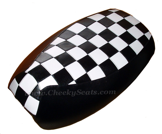 TOP LOOK! Mod Checks Black White Racing Checkers Seat Cover