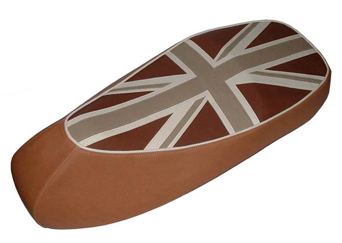 Earth Tone Union Jack Vespa GTS Scooter Seat Cover British Flag