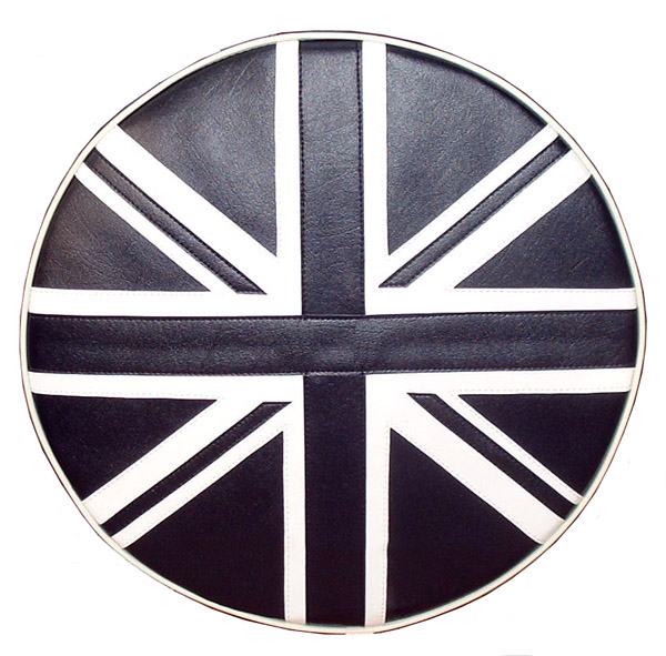 Union Jack Black Vespa Lambretta Bajaj Scooter Spare Tire Cover