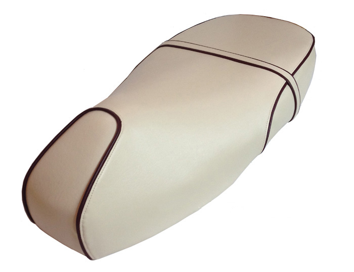 Vespa GT 125 200 Cream / White Scooter Seat Cover