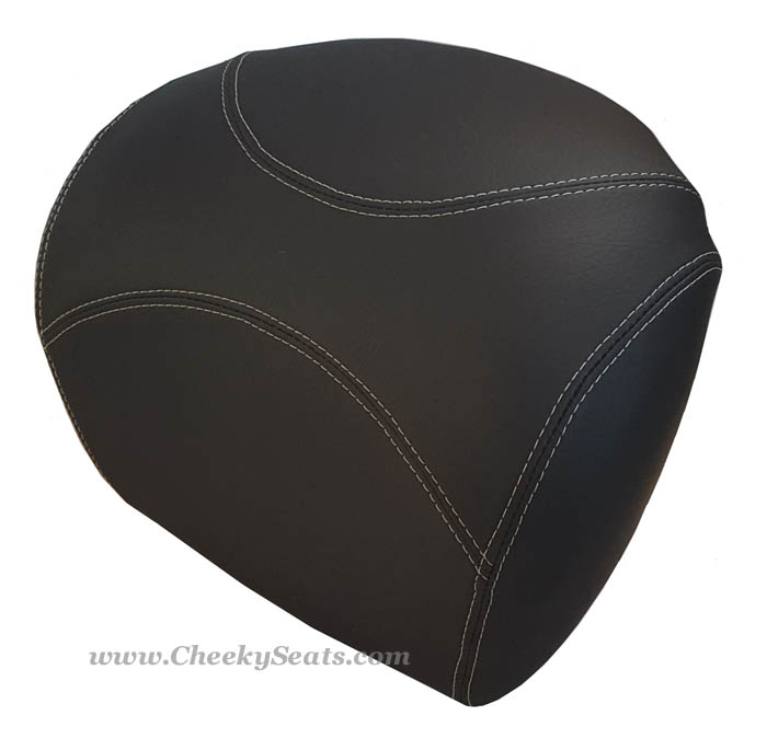 Vespa GTV Backrest Cover Hand Tailored Black Top Case Pad Cover