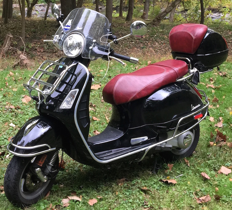 Vespa GT125 200 Oxblood French Seams Extreme Seat Cover