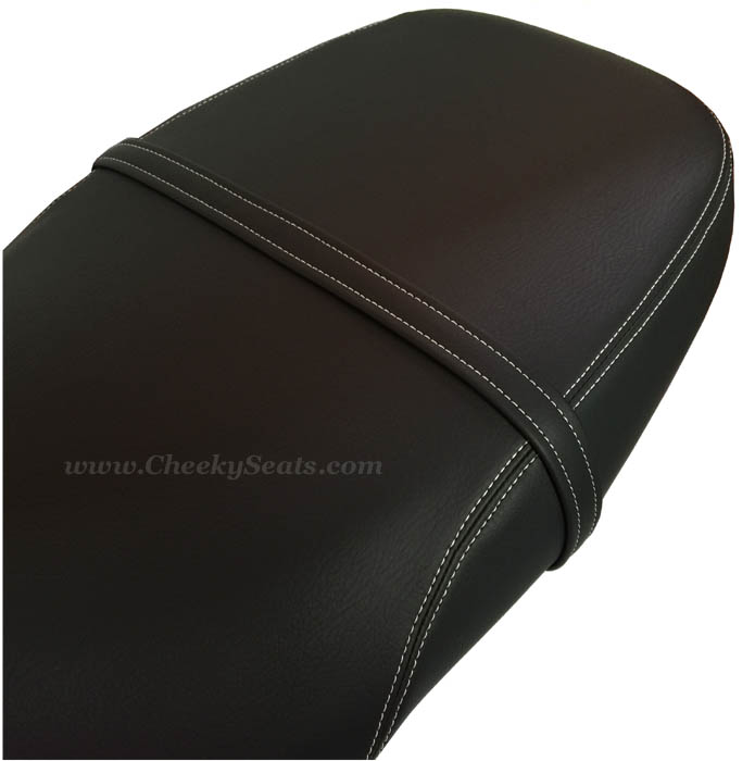 Vespa GT 125 200 Matte Black with French Seams Seat Cover