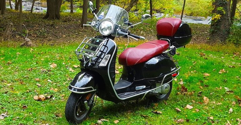 Vespa GT200 Oxblood Seat and Backrest Covers