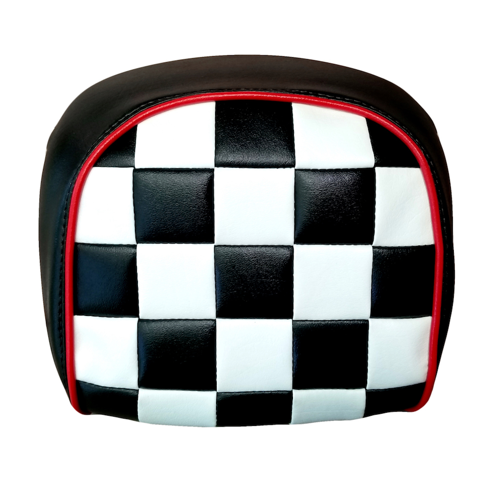 Vespa GT Scooter Top Case 2015-2019 Checkers Back Rest Pad Cover