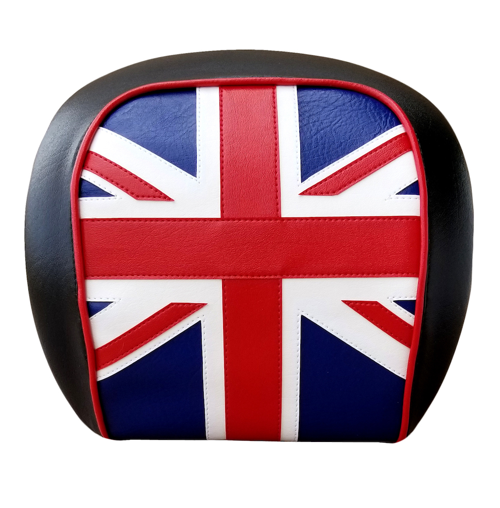 Vespa GT Scooter Top Case Backrest Cover Union Jack British Flag