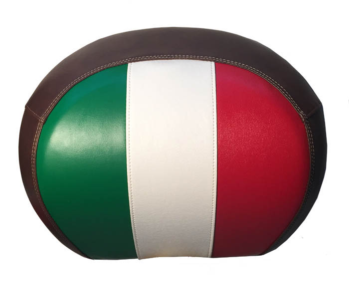 Vespa GT Italian Flag and Whiskey Topcase Backrest Cover