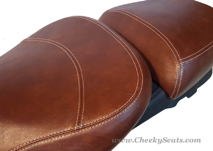 Vespa GTV Seat Cover Hand Tailored Whiskey Scooter Saddle Cover