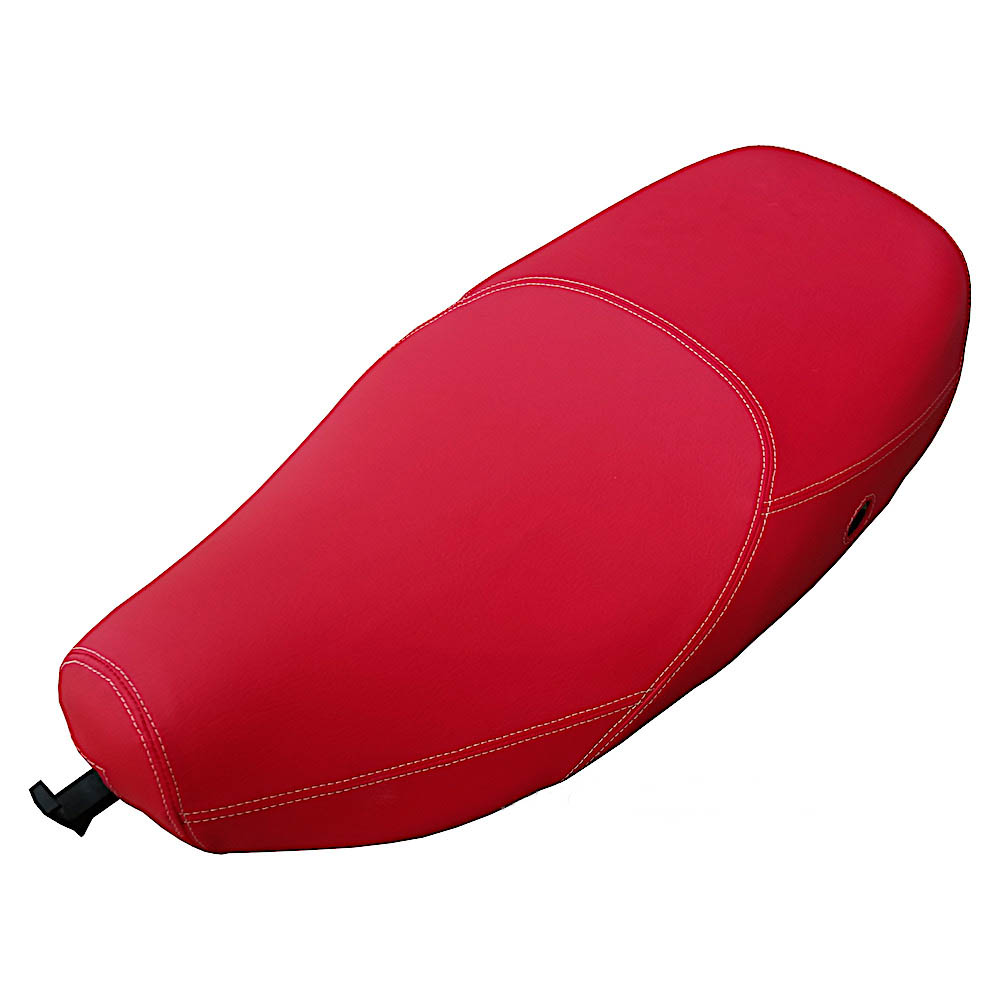 Vespa LX 50 150 Dragon Red Hot Matte Red Seat Cover French Seams