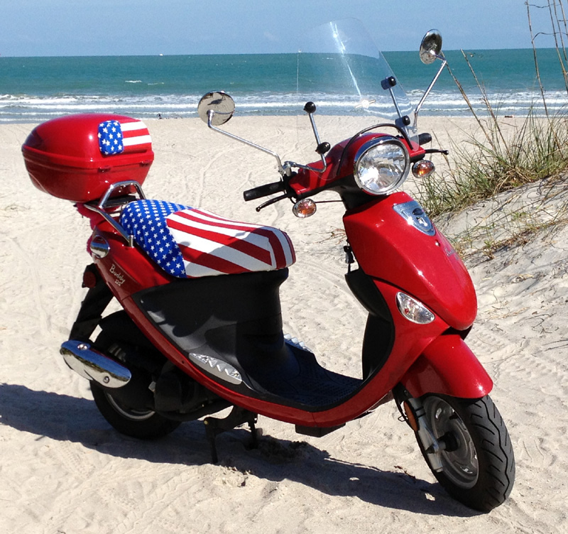 American Flag Scooter Seat Cover Vespa LX 50 150 USA Handmade