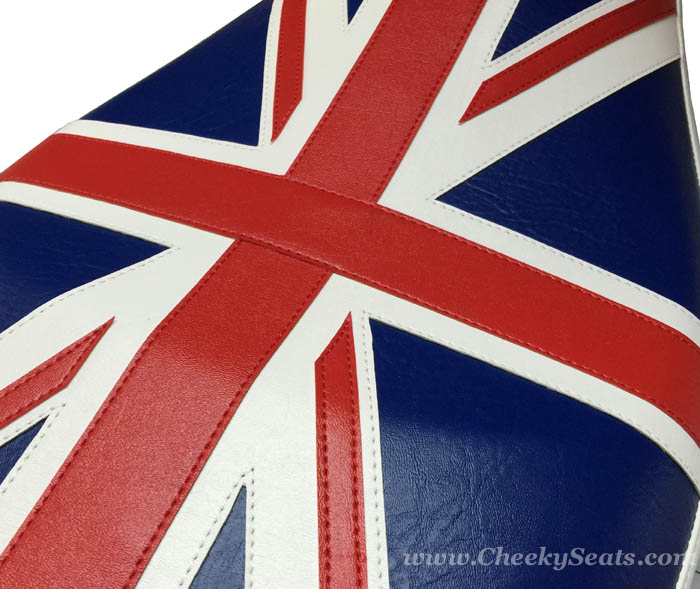 Vespa LX Union Jack British Flag Scooter Seat Cover