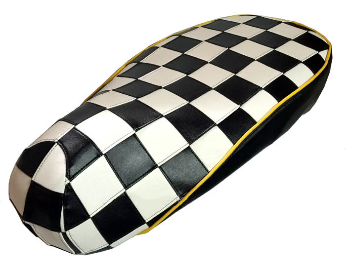 Checkers Vespa Sprint Primavera 50 125 150 Ska Mod seat cover | Cheeky  Seats Scooter Seat Covers
