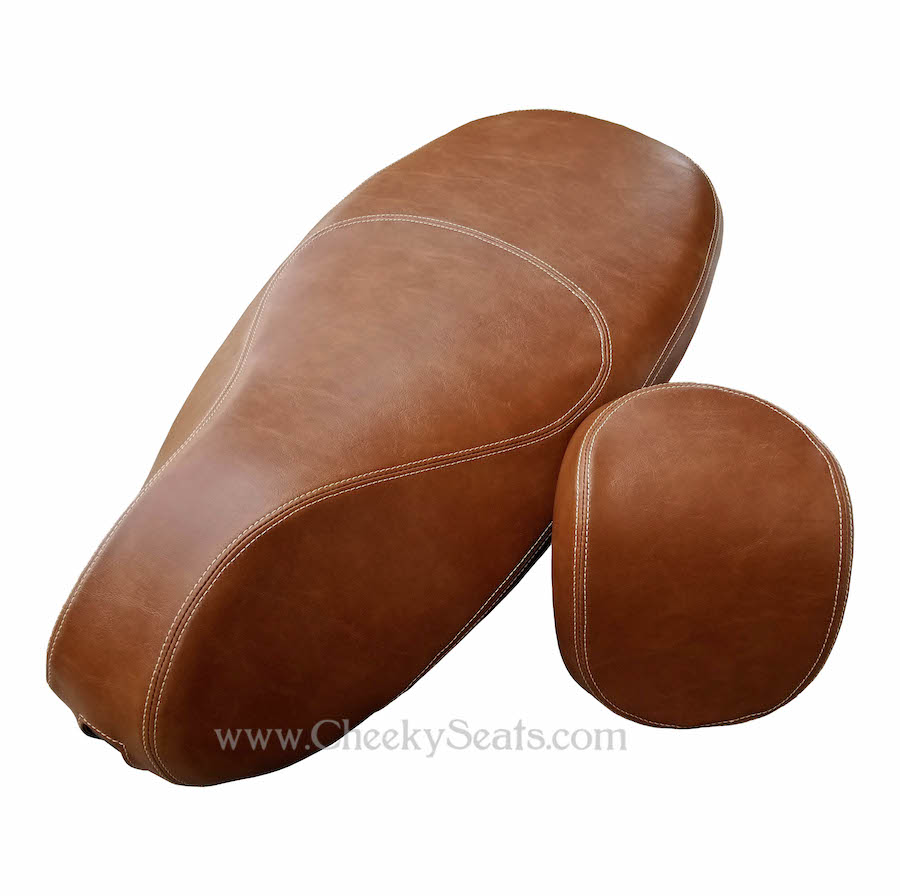 Vespa Sprint Primavera 50 125 150 Distressed Caramel Seat Cover