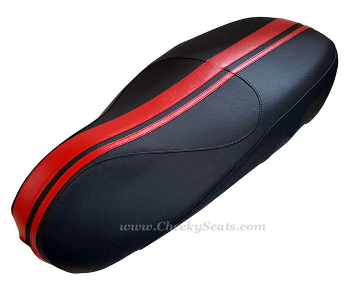 Dual Racing Stripes Vespa Sprint Primavera 50 125 150 Seat Cover