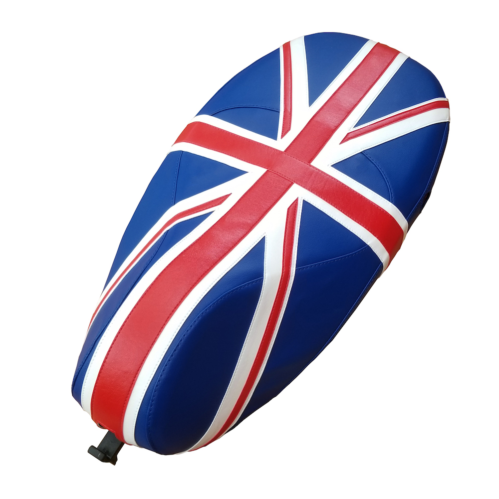 Vespa Sprint Primavera Union Jack British Flag Seat Cover