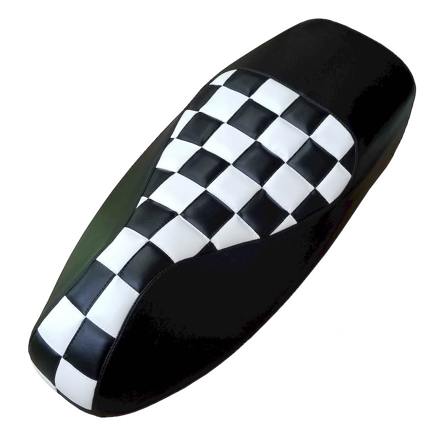 Vespa GTS 250 300 Checkers Seat Cover Black White Squares Ska