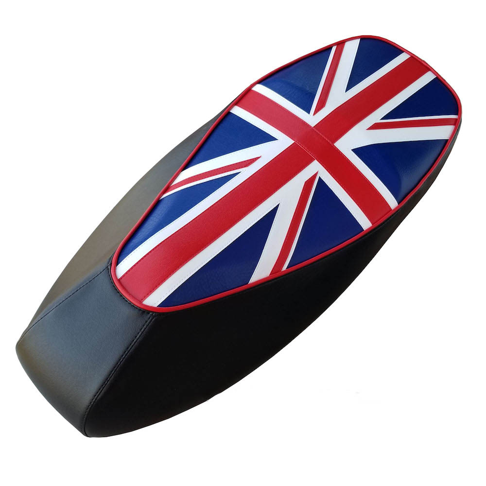 Union Jack British Flag Vespa Scooter Seat Cover GTS 125 250 300 - Click Image to Close