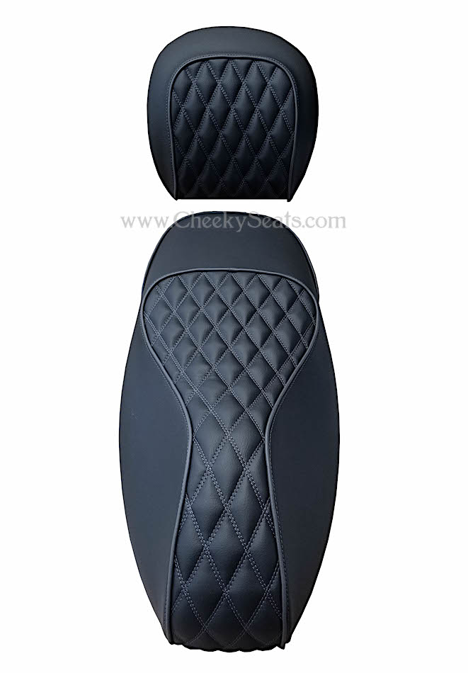 Double Diamond Vespa GTS 250 300 Black Seat Cover Handmade