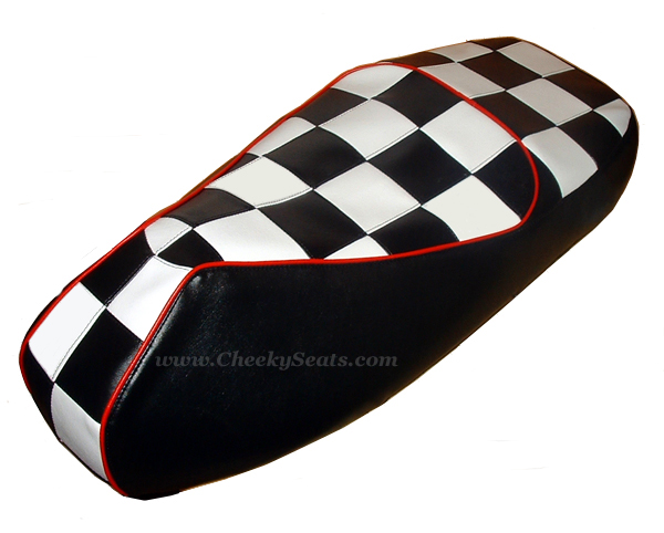 Vespa GTS 250 300 Checkers Scooter Seat Cover Mod Ska