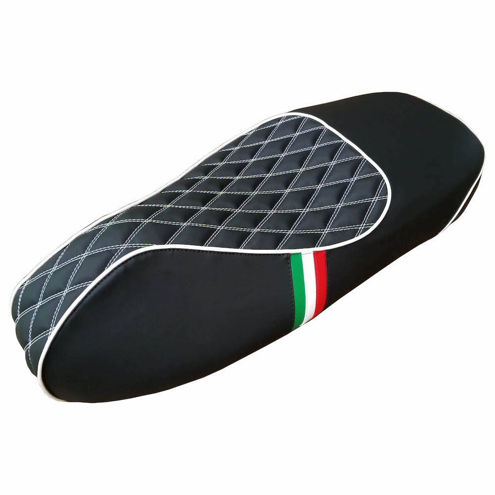 Vespa GTS 250 300 Diamond Seat Cover Italian Stripes Handmade