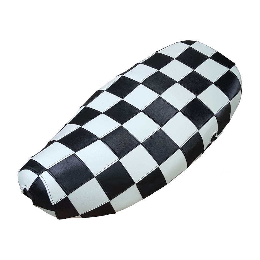 Checkers Black and White Mod Vespa LX 50 150 Seat Covers