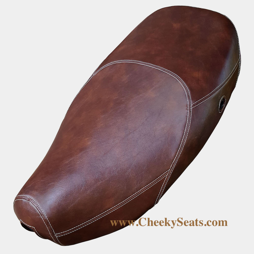 Vespa LX 50 150 Brown Whiskey Xtreme Cut Faux Leather Seat Cover