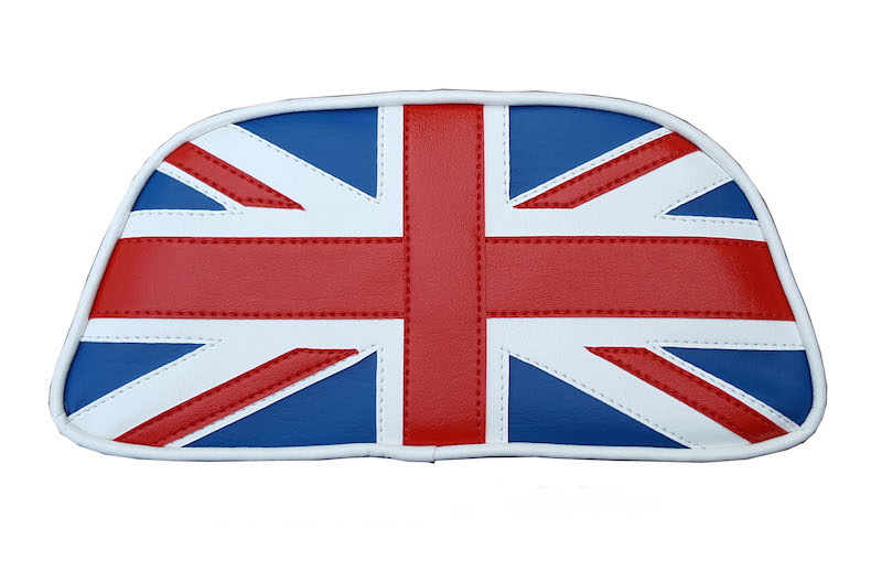 Vespa LX Union Jack Top Case Backrest Pad Cover Soft Italia