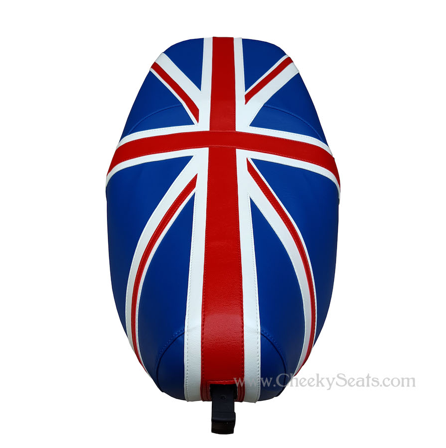 Vespa LX 50 150 Union Jack British Flag Scooter Seat Cover