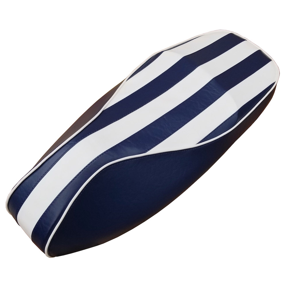 Vespa GTS Yacht Club Seat Cover Beach Stripes Handmade