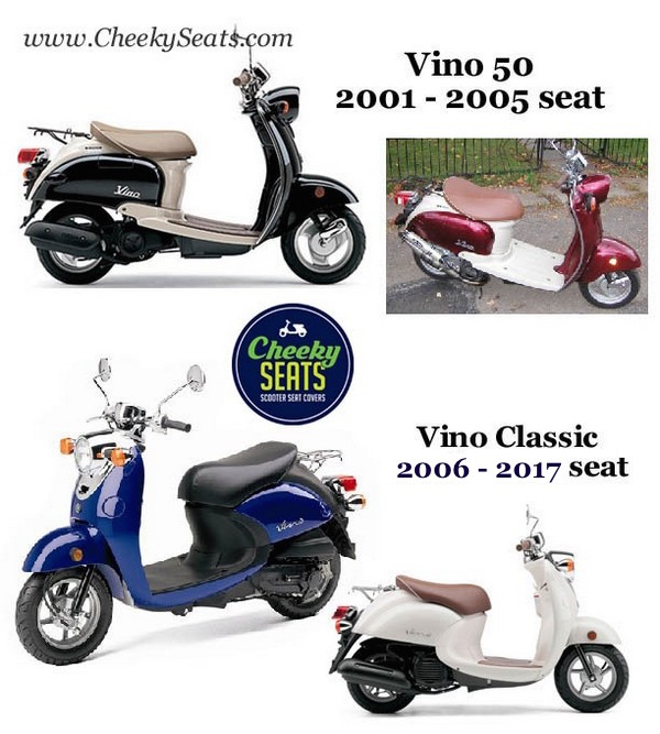 Yamaha vino 49 50 classic black seat cover waterproof for Yamaha zuma scooter cover