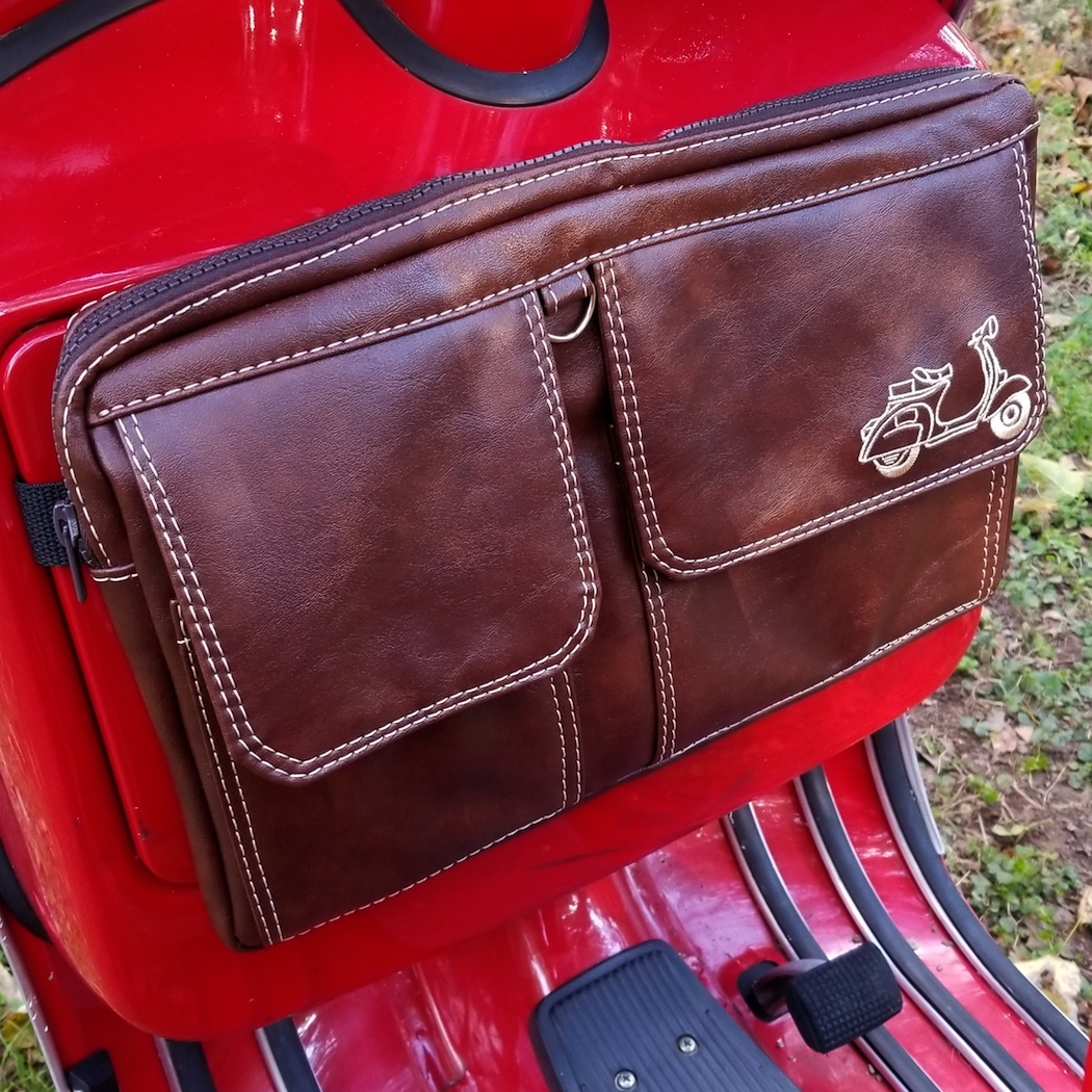 Glove Box Bag Rack Bag Scooter Gifts Handmade Distressed Whiskey