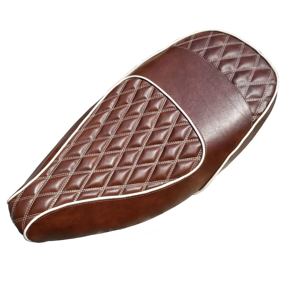 Double Diamond Vespa ET 2 /4 Whiskey Brown Seat Cover Handmade