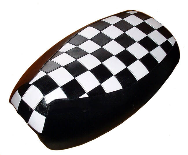 Yamaha Vino 125 Scooter Seat Cover, Black & White MOD